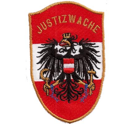 Ehemalig Justizwache Gefängnis Polizei, Uniform, Österreich, Aufnäher, Abzeichen