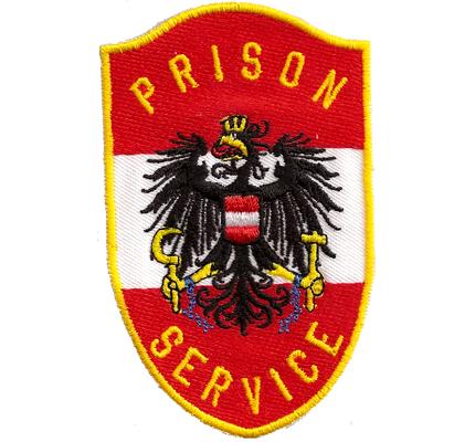 Prison Service Justizwache, Polizei, Uniform, Österreich, Aufnäher, Abzeichen