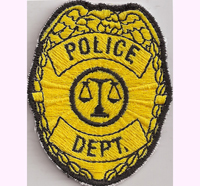 Police Department LAPD, NYPD, CSI, Badge, Ausweis, Cap, Aufnäher, Patch