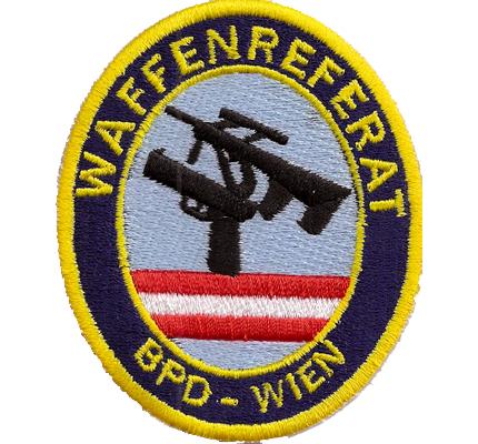 Original Waffenreferat Wien BPD, Polizei Wega, Cobra, Glock, Aufnäher, Abzeichen