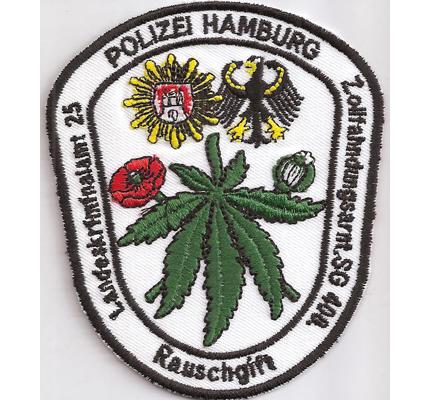 Deutsche Polizei Hamburg Landeskriminalamt Rauschgift DEA Aufnäher