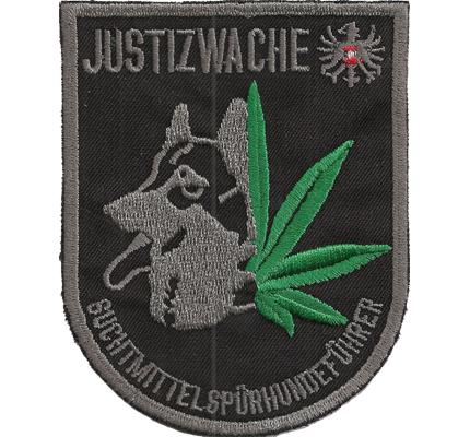 Suchtmittelspürhundeführer Justizwache Drogenfahndung Polizei Aufnäher