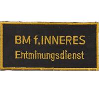 BMI Entminungsdienst Polizei Uniform SEK Österreich Aufnäher Abzeichen