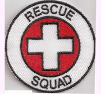 Rescue Squad Fire, Department, Polizei medical, Feuerwehr, Abzeichen, Aufnäher,