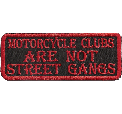 Black Biker, MC Clubs are not Street Gangs Bones, Biker, Freerider, Aufnäher