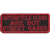 Black Biker, MC Clubs are not Street Gangs Bones, Biker, Freerider, Aufnäher