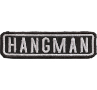 Black, Motorcycle, Club, HANGMAN, MC, Biker, Ranking, Patches, Aufnäher