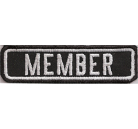 Black, Motorcycle, Club, MEMBER, MC, Biker, Ranking, Patches, Aufnäher