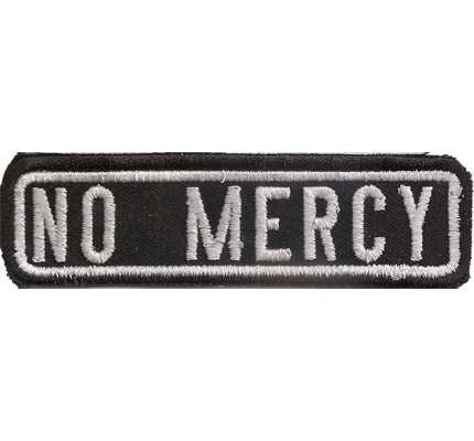 Black, Motorcycle, Club, expect, NO MERCY, MC, Biker, Ranking, Aufnäher, Patch