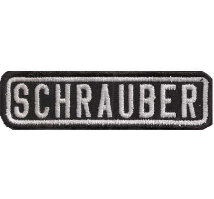 Black, Motorcycle, Club, SCHRAUBER, MC, Biker, Ranking, Patches, Aufnäher