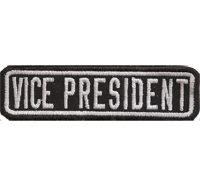 Black, Motorcycle, Club, VICE PRESIDENT, MC, Biker, Ranking, Patches, Aufnäher