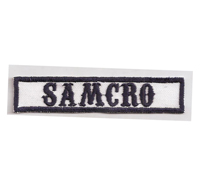 MC Sons of Anarchy original Biker Rang Abzeichen SAMCRO Aufnäher Patch