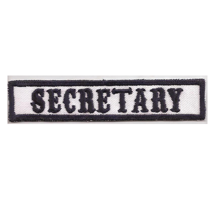 MC Sons of Anarchy original Biker Rang Abzeichen SECRETARY Aufnäher Patch
