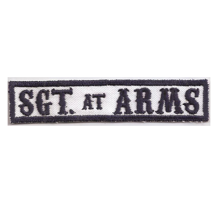 MC Sons of Anarchy original Biker Rang Abzeichen SGT at ARMS Aufnäher Patch