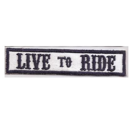 MC Sons of Anarchy original Biker Rang Abzeichen LIVE to RIDE Aufnäher