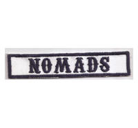 MC Sons of Anarchy original Biker Rang Abzeichen NOMADS Aufnäher Patch