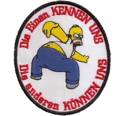 Die einen KENNEN uns, Die anderen KÖNNEN uns, Homer Simpsons Biker Aufnäher