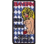 Bayern Bier, Berge, geile Weiber Bavaria Bayern Oktoberfest München Aufnäher
