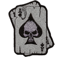 2 Aces Skull Gambling Poker Karten Cards Seven Eleven Biker Aufnäher Patch