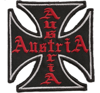 IRON CROSS AUSTRIA Honda Suzuki RIDER Motorcycle MC Chopper Biker Aufnäher