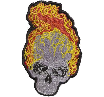 Ghost Rider FLAMESKULL Hells Flaming Skullhead Angels Biker Aufnäher Patch