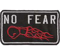 NO FEAR Boxing Fightclub Ultimate Fighting MC Biker Aufnäher Patch