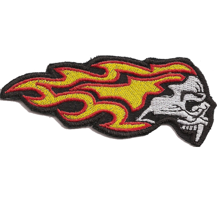 FLAMING SKULLHEAD Hells ghostrider Dark Angels Biker Aufnäher Patch