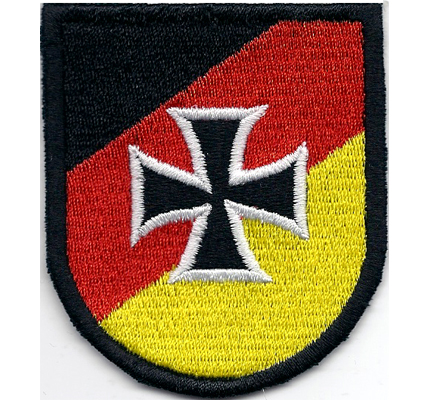 Deutschland Germany Flagge Fahne Iron Cross Biker Patch Aufnäher
