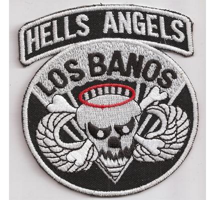 Original HELLS ANGELS Los Banos Biker MC Kutten Aufnäher Abzeichen Patch