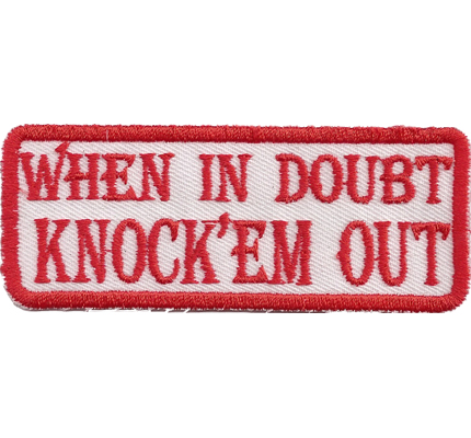 Hells dark Eagle ,When in Doubt-knock 'em out, Too Bad Angels Aufnäher Patch