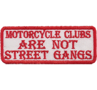 MC Clubs are not street gangs, Hells Eagle, Skullhead, Dark Angels, Aufnäher