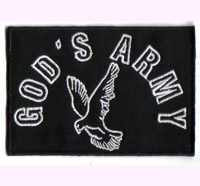 Christlicher Patch Holy Ghost God's Army Patch Taube Jesus Gott Aufnäher