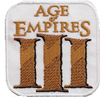 Age of Empires III 3 Asian Dynasties, Warchiefs PC Collection Key Aufnäher Patch