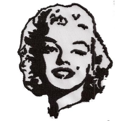 MARILYN MONROE portrait 60er Rockabilly Vintage Memoria Aufnäher