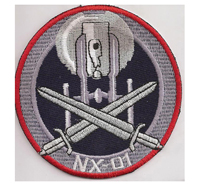 Star Trek NX01 Enterprise Mirror Universe DS9 dvd Uniform Abzeichen Patch