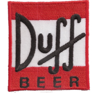 Duff Beer Homer Bart Barney The Simpsons Bier Aufnäher Aufbügler