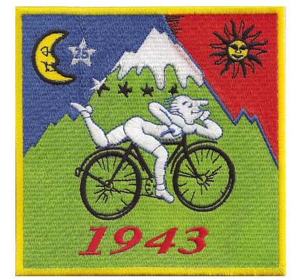 Drug Fun ALBERT HOFMANN BIKE RIDE 1943 LSD GOA ACID ART Patch Aufnäher