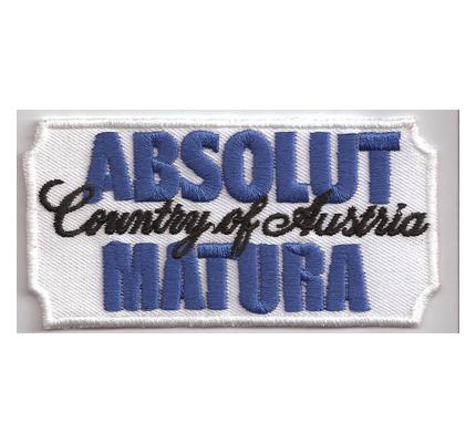 Fun Austria ABSOLUT Vodka Matura Abitur T-Shirt Schule Aufnäher Patch
