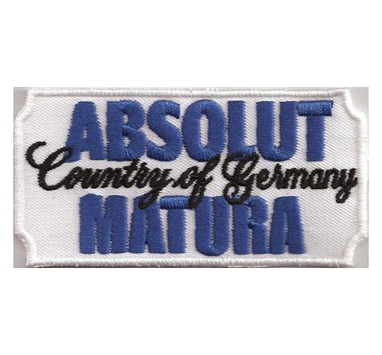 FUN Germany ABSOLUT Vodka Matura Abitur T-Shirt Schule Aufnäher Patch