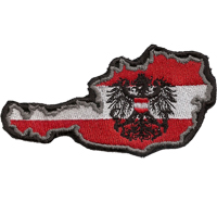 Österreich Karte Fahne Patriots Staatswappen Austria Patch Aufbügler