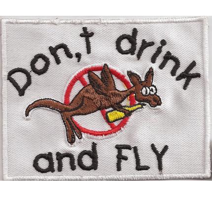 DONT DRINK and FLY, Legalize Marijuana, Cannabis Haschisch Rastafari Aufnäher