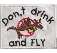 DONT DRINK and FLY, Legalize Marijuana, Cannabis Haschisch Rastafari Aufnäher