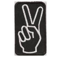 PEACE Friedenszeichen Woodstock Hippie Peacefinger Punk Aufnäher Patch