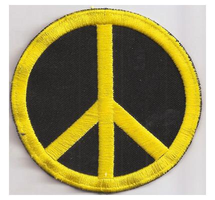 PEACE Frieden Symbol Zeichen Hippie style Woodstock Aufnäher Patch