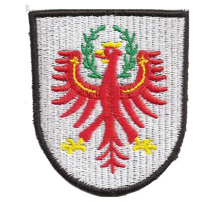 Südtirol Tirol Bundesland Landeswappen Wappen Fahne Abzeichen Aufnäher