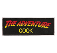 The Adventure COOK Spicy Haubenkoch Kochjacke Abzeichen Patch Aufnäher