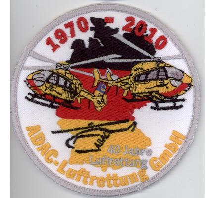 Helikopter ADAC Luftrettung 40 Jahre Hubschrauber RTH SAR HSM Aufnäher