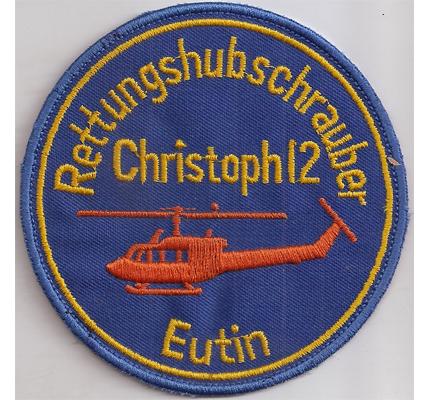 Helicopter Rettungshubschrauber RTH Christoph 12 Eutin Crew Aufnäher