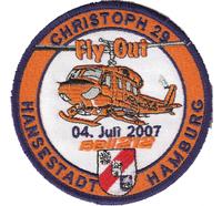 Helicopter Christoph 29 Hamburg Flyout Hubschrauber RTH Aufnäher Patch