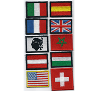 Italy Spain France England USA England Swiss Fahnen Flag Aufnäher Patch